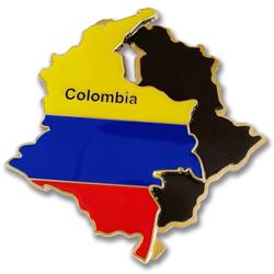 Colombia map flag fridge magnet