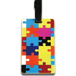autism awareness pvc luggage tag