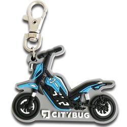 3D soft pvc motorcycle zipper pendant