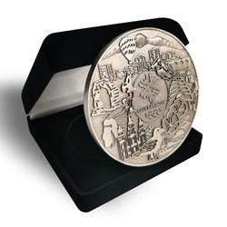 3D logo vintage silver souvenir coin