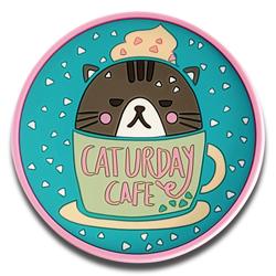 cute cat design pvc coffee cup mat