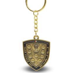 3D盾形烤漆色钥匙扣,定制