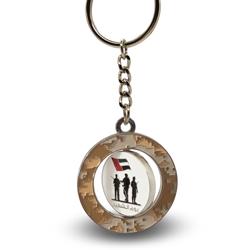 UAE martyrs day rotatable keychain