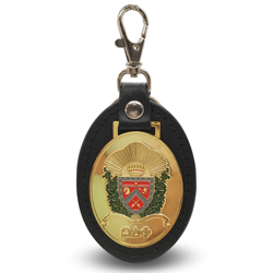 business metal leather keychain