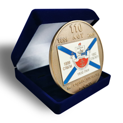 Soviet metal hard enamel coin, souvenir