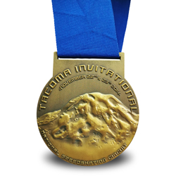 3D speedskating medal
