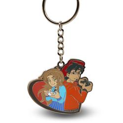 Custom cartoon boy & girl key chain