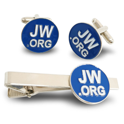 JW.ORG cufflinks & tie clip